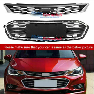 Front Bumper Upper Grill Middle Lower Grille For Chevrolet Cruze 2016 2018
