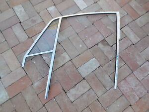 Porsche 911 Door Window Frame Aluminum Left Driver Side W Quarter Glass 1 Fl