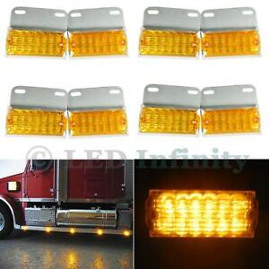 8x Amber 12 led Side Marker Indicator Lights Commercial Vehicle Off road Lamp