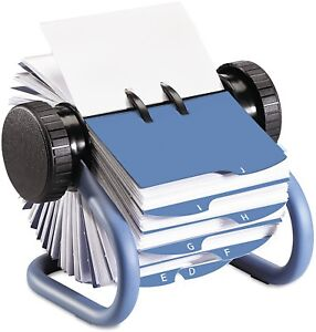 Rolodex Rotary Business Card Organizer With 200 2 1 4 X 4 Inch Cards And 24