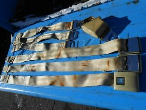 68 Chevy Impala Caprice Belair Biscayne Chevelle Gold Tan Seat Belts Partial Set