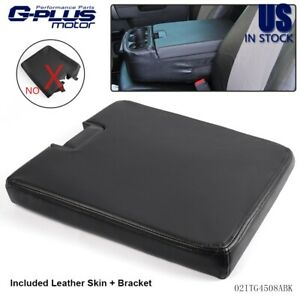 Black For 07 13 Chevy Cadillac Gmc Pickup Truck Front Seat Center Console Lid