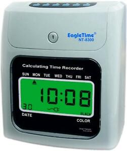 Nt 8300 Lcd Electronic Calculating Time Recorder Clock Employee Easy Payroll