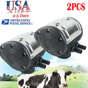 2 portable L80 Pneumatic Pulsator Cow Milker Milking Machine Dairy Farm Cattle