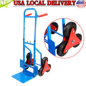 Heavy Duty Stair Climbing Moving Dolly Hand Truck Warehouse Appliance Cart 200kg