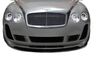 03 10 Bentley Continental Af 2 Aero Function Front Bumper Lip Body Kit 113188