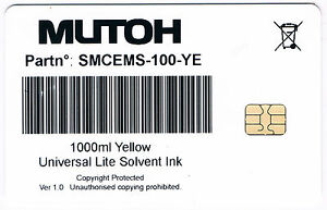 Mutoh Smart Card 8 Pcs 2c 2m 2y 2k 1000ml V 1 0 For Mutoh Valuejet Printers