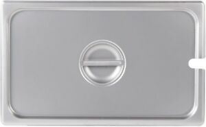 Full Size Stainless Steel Steam Table Hotel Slotted Pan Lid Cover pack Of 6