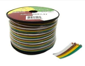 Flat Trailer Light Cable Wiring Harness 100 Feet 14 Awg 4 Wire Cca