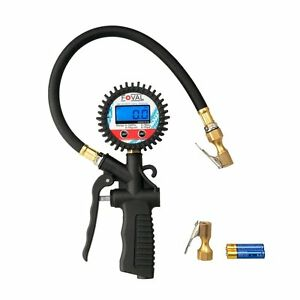 Gage Portable Tire Inflator Digital Pressure Gauge Air Counter Tyre 100 Psi New