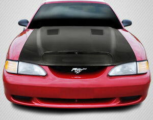 94 98 Ford Mustang Gt500 Dritech Carbon Fiber Body Kit Hood 112939