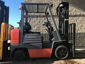 Toyota 5000 Pound Lpg propane Forklift we Will Ship Nice budget Low Hour Lift