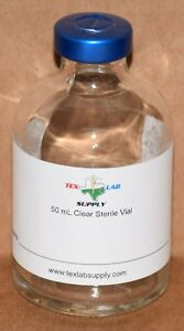 50 Ml Clear Sterile Vial W Contents Label Qty 100