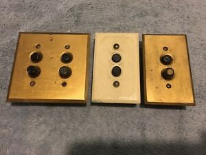 Push Button Light Switches Brass Cover Plates