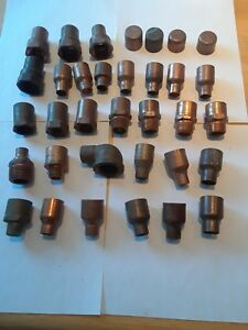 1 Copper Plumbing Fittings 34 Pieces Female Adapters Caps Reducing Coupling