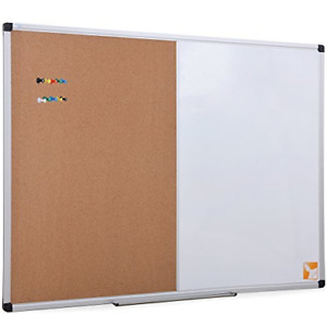Xboard 48 X 36 Inch Magnetic Dry Erase Cork Board Combination Home Office Dec