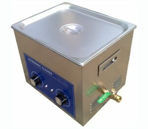 10l Ultrasonic Cleaner With Heater 240w Jewelry Watches Dental Tattoo Bi