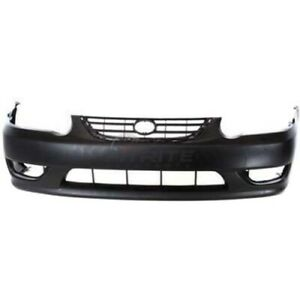 New Front Bumper Cover Primed For 2001 2002 Toyota Corolla To1000217