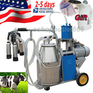 Usa Seller 25l Milker Electric Piston Milking Machine Adjustable For Cows Bucket