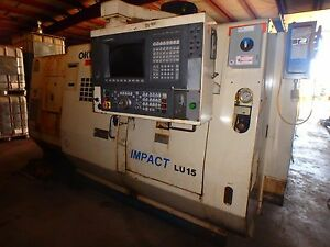 offer Okuma Impact Lu15 4 Axis Cnc Lathe With Osp 7000l Control And Tailstock