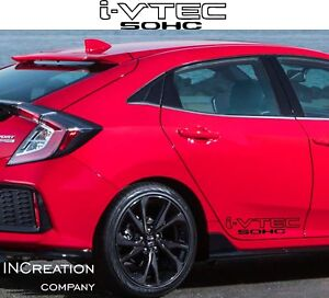 I Vtec Sohc X2 Decals For Honda Civic Accord Vinyl Sticker Rally Racing Graphics