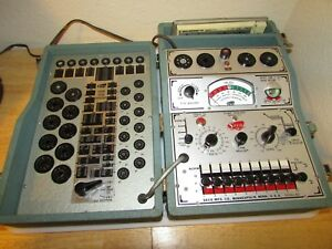 Vintage Seco 107 Tube Tester fc3 Index Flip Chart working usa sn 2335