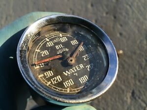 Mga Temperature Gd1501 01 Oil Gauge With Dash Harness Horn Button Etc