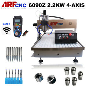 Usb Cnc 6090z 2 2kw 4axis Router Engraver Milling Engraving Machine Us Duty Free