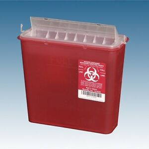 10 Each 5 Quart Sharp Needle Disposable Container W Lid Doctor Tattoo Sharps