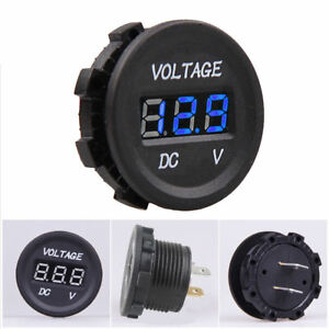 Dc12v 24v Led Panel Digital Voltage Volt Meter Display Voltmeter Car Motorcycle