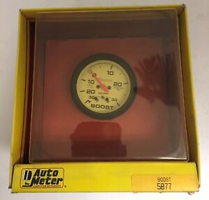 Autometer Phantom Electrical Boost Vacuum Gauge 2 5 8 Dia White Face 5877 New