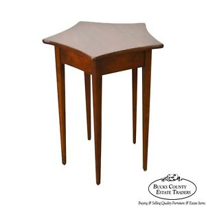 Solid Cherry Star Shape Top Side Table
