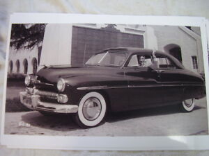 1949 Mercury With Gary Cooper Behind The Wheel 11 X 17 Photo Picture
