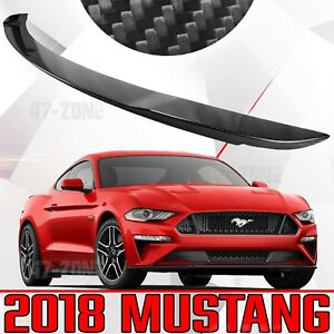 New Gloss Real Carbon Fiber Factory Style Rear Spoiler Wing For 18 Ford Mustang