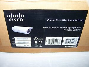 Cisco Bullet Network Camera Vc240 k9 Indoor Outdoor Wdr Day Night Poe In Box
