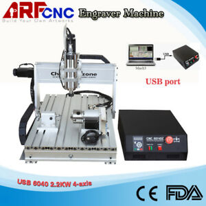 Usb Mach3 4axis Cnc Router 6040 2 2kw Spindle Engraving Milling Carving Machine