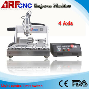 Mach3 Usb 6040 2200w 4 axis Cnc Router Engraver Engraving Milling Machine
