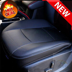 Black Pu Leather 3d Full Surround Car Seat Protector Seat Cover Accessories Free