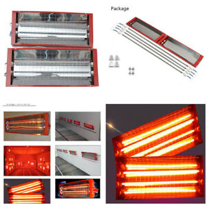 2kw Random Spray Baking Booth Infrared Paint Curing Lamp Heating Light Heater