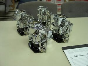 4 Brand New 1932 Ford Roadster Big Big97 Stromberg 97 Carb Carburetors Chrome