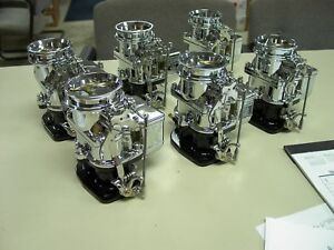 6 Brand New 1932 Ford Roadster Big Big97 Stromberg 97 Carb Carburetors Chrome