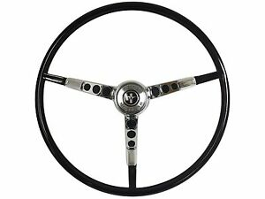 1965 1966 Ford Mustang Reproduction Black Steering Wheel With Horn Ring