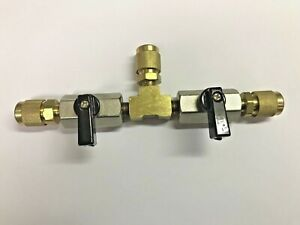 Vacuum Pump Or Refrigerant Isolation Valve 3 8 Male Flare Hose Connections