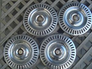 1955 1956 Chrysler Imperial 300 Hubcaps Wheel Covers Center Caps Antique Vintage