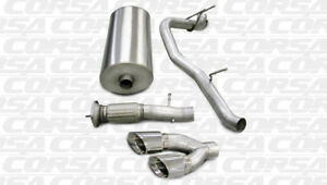 Corsa Sport Cat Back Exhaust Single Side Exit For 07 10 Cadillac Gmc 6 2l