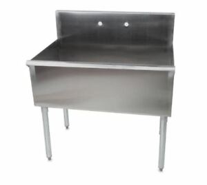 36 16 gauge Stainless Steel One Compartment Commercial Sink 36 X 24 X 14