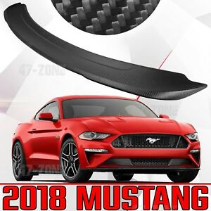 New Matte Carbon Fiber Rear Spoiler Wing For 2018 Ford Mustang Shelby Gt 350 550