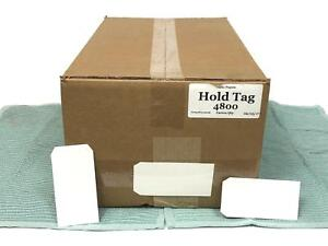 New 4 800 White 5x2 25 Plain White Gloss Matte Paper Price Hold Tag Tags Cards