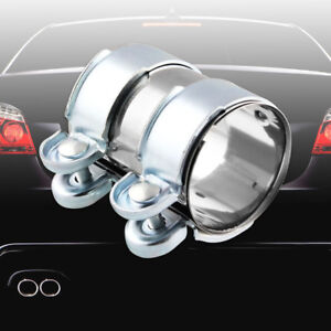 2 5 Stainless Steel Turbo Exhaust downpipe catback muffler Pipe Band flanges