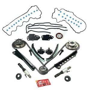 Timing Chain Kit Cam Phasers Vvt Valves For 5 4l Triton 3v Ford F150 Lincoln